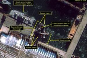 """""""북한, SLBM용 바지선 가동 준비중""""... 38노스 분석"""