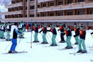 남북 스키선수들 공동훈련…北 마식령 스키장의 시설