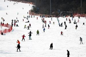 포근하지만 탁한 휴일…겨울 축제장 북적·도심 유원지 한산
