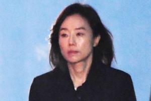 [포토] 조윤선, '블랙리스트' 징역2년 법정구속…다시 구치소로