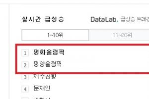 '평화올림픽' 실검 1위가 문재인 대통령 생일선물?…보수 '평양올림픽' 맞불