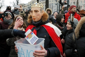 '푸틴 대항마' 대선출마 막자… 러 대규모 反정부 시위