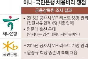 하나ㆍ국민銀도  '채용 특혜 VIP 리스트' 있었다