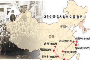 한·중, 임시정부 청사 등 항일 유적지 공동 발굴·복원 나선다