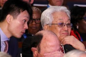 [포토] 북한 장웅 IOC 위원과 아들 장정혁