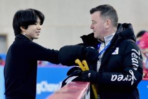 [서울포토] 연습 마친 피겨 차준환과 오서 코치