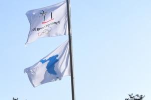 성남시청 광장 올림픽기.한반도기 올리고 세월호기 내리고