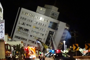 대만 화롄 규모 6.4 지진으로 최소 2명 사망…마샬 호텔 건물 붕괴 피해