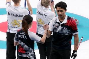 [올림픽] 믹스더블 장혜지-이기정, 핀란드 꺾고 '대한민국 첫승'