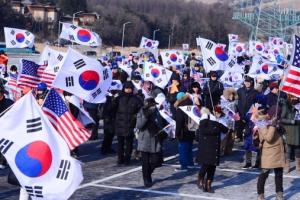 [서울포토] 평창에서 열린 태극기 집회