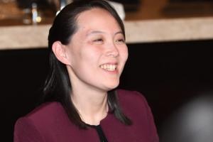 [서울포토] 北 김여정, '활짝 웃는 모습'