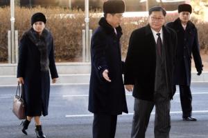 [서울포토] 북으로 귀환하는 현송월과 권혁봉