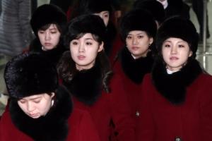 [서울포토] 경의선 육로로 돌아가는 북한 예술단