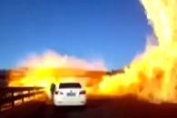 中 고속도로서 LNG탱크로리 폭발 순간 '아찔'
