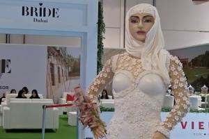 먹을 수 있는 '아라비안 신부 모형' 10억짜리 케익