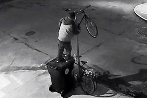 기발한 방법(?)으로 자전거 훔친 좀도둑