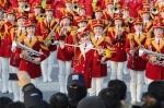 북한 응원단, 설 연휴 첫날…