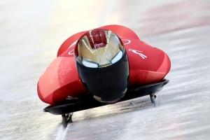 스켈레톤 윤성빈, 3차 시기에서 50초18…압도적 선두(종합)