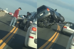 고속도로에서 침맞고 '폭풍 성질' 낸 운전자의 흉측한 결말