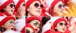선글라스 낀 북한 응원단이…
