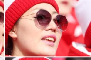 선글라스 낀 북한 응원단이 가리고픈 것