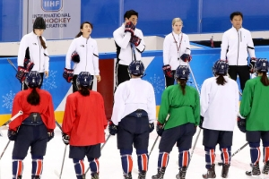 [올림픽] 마지막을 준비하는 단일팀…짧고 굵은 훈련 끝내고 '포토타임'