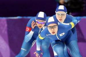 여자빙속 팀추월 3개 대회 연속 8강 탈락