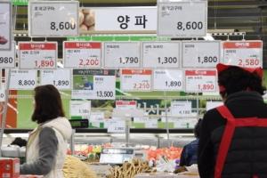 한파로 농산물 가격 '껑충 '