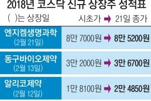 신규 종목 흥행… 뜨거운 코스닥 기업공개 시장