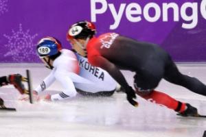 쇼트트랙 남자 5,000m 계주 '노 메달'…결승서 넘어져
