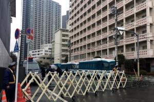 [포토] 도쿄 조선총련 건물 '총격사건 현장'