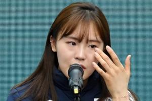 [포토] '세월호 리본은…' 눈물 보인 김아랑