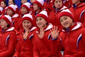 [문경근 기자의 서울&평양 리포트] 전할 수밖에 없는 '평창의 감동'… 응원단도 가슴…