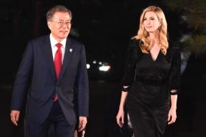 [이방카 방한] '대북 최대압박' 언급한 이방카… 文대통령은 대화 순기능 강조