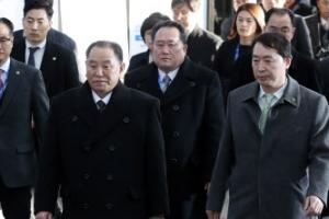 김영철 등 北대표단, 평창 진부역 도착…폐회식 참석