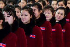 [서울포토] 북한 응원단, '이제는 떠날 시간'