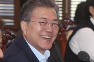 [서울포토] 환하게 웃는 문재인 대통령