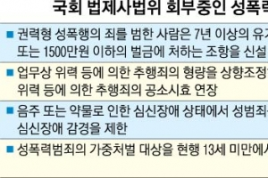 """""""성폭력 처벌 강화"""" 법안 발의 봇물"""