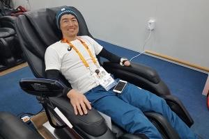 보조기센터·안마 의자…선수들 만족도 높아