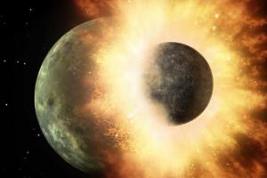 [우주를 보다] 지구와 화성만 한 행성의 충돌, 그 찌꺼기가 달?