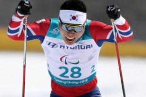 [포토] 2018 평창 동계패럴림픽, '한국 첫 메달' 신의현의 경기 장면