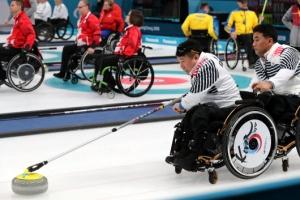 -패럴림픽- 휠체어 컬링 대표팀, 슬로바키아 제압…3전 전승