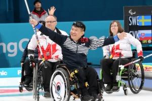 휠체어컬링 대표팀, 캐나다까지 제압…4전 전승