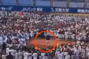 시구 도중 남학생 수백 명에게 둘러싸인 일본 모델