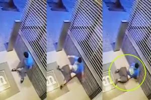 건물 내  '노상방변' 후 미끄러져 주저앉은 소년