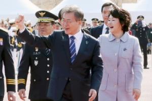 [서울포토] 문재인 대통령, 경찰대학생 간부후보생 합동임용식 입장