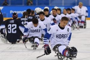 [서울포토] 아쉬운 표정의 아이스하키 한국 대표팀