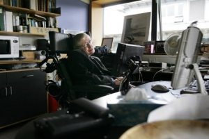 [포토] 세상 떠난 '천재 물리학자' 스티븐 호킹의 연구실