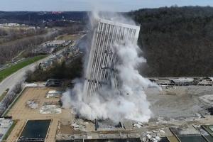 美 50년 된 역사의 타워, 단 14초 만에 철거돼…