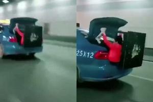 [별별영상] 트렁크보다 큰 탁자 옮기는 법?